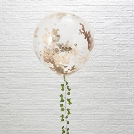 Giant Rose Gold Confetti Balloon